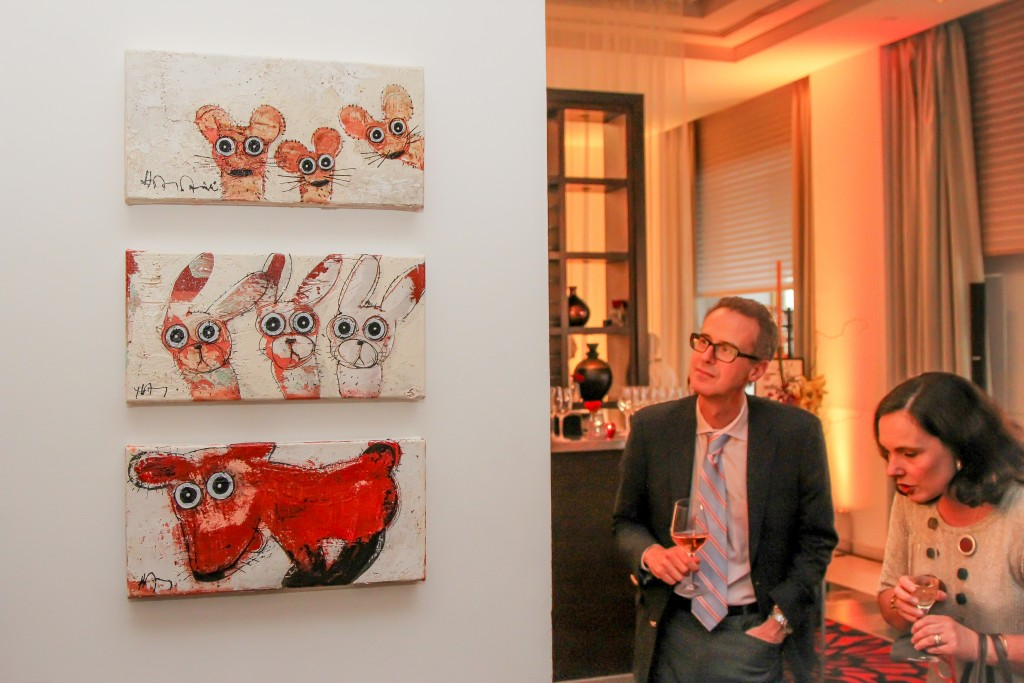 Paintings by Hervé Maury (Photo Courtesy of Peter Stepanek)