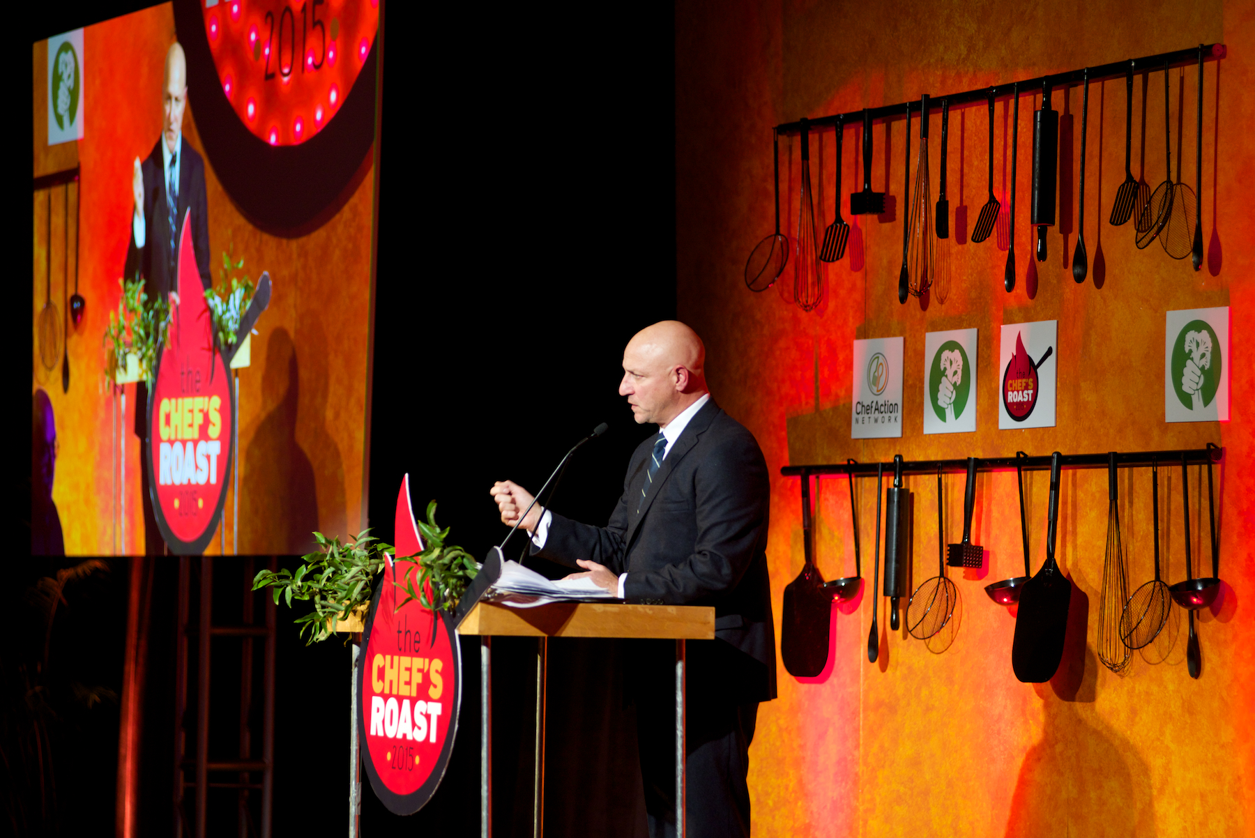 Tom Colicchio at the 2nd Annual Chef's Roast. (Photo Courtesy of Ben Droz)