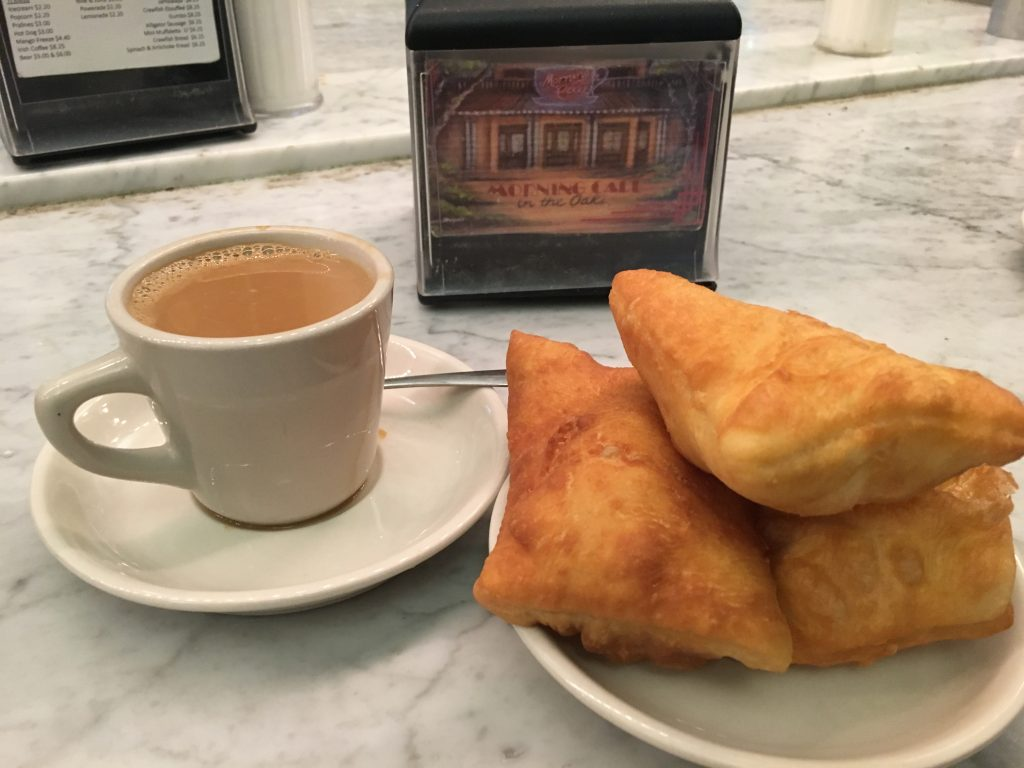 Beignets and Cafe au Lait at Morning Call. Photo by Lani Furbank.