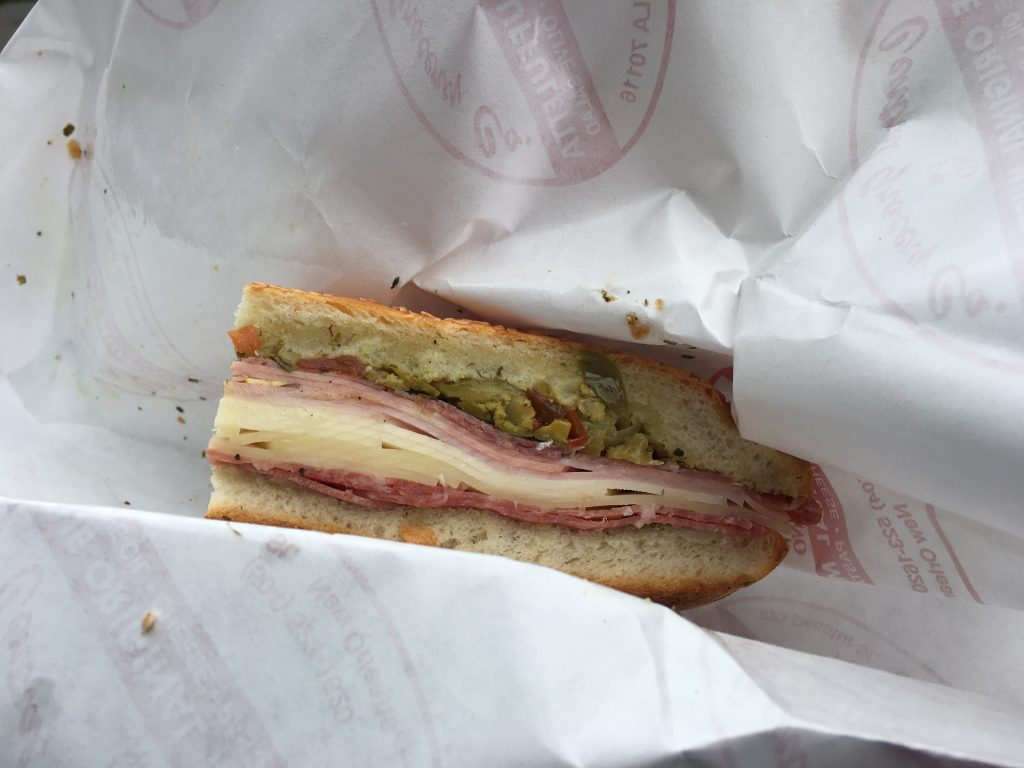 Muffuletta at Central Grocery. Photo by Lani Furbank.