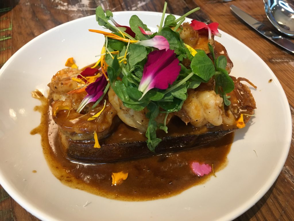 BBQ Shrimp at Willa Jean. Photo by Lani Furbank.